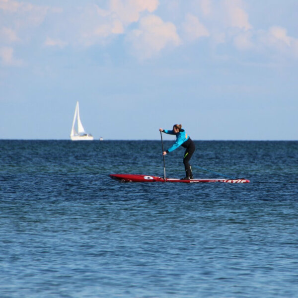 Stand-Up-Paddling in Warnemünde